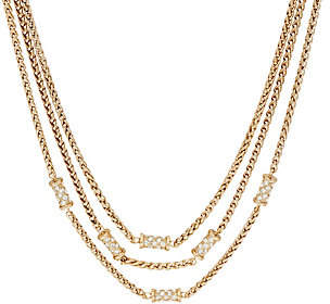 Grace Kelly Collection Triple Row WheatChain Necklace
