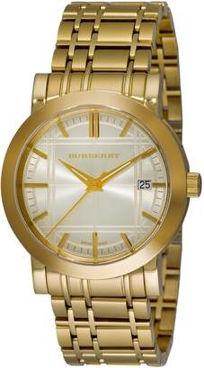 Burberry Men's BU1393 Heritage -Plated Stainless Steel Dial Watch