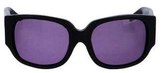 Alexander Wang x Linda Farrow Leather Tinted Sunglasses