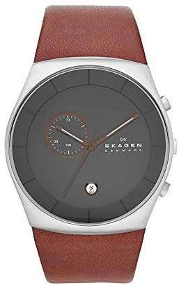 Skagen Men's SKW6085 Havene Saddle Leather Watch
