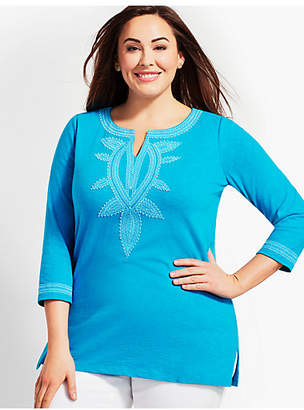 Talbots Plus Size Exclusive Tandoor Embroidered Tunic