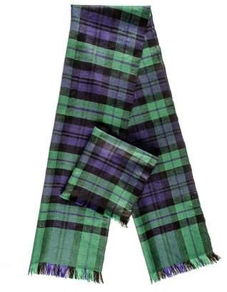 Black Watch Tartan Superfine Cashmere Cravat Scarf Set