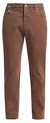 Brunello Cucinelli Men's Five-Pocket Cotton Jeans