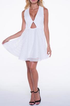 Bella White Flare Dress $104 thestylecure.com