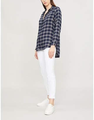 The White Company Checked flannel boyfriend shirt