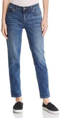 Eileen Fisher Cropped Boyfriend Jeans in Aged Indigo, Regular & Petite