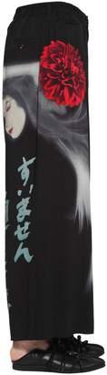 Yohji Yamamoto Printed Wide Leg Viscose Pants