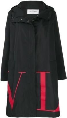 Valentino VLTN logo print parka coat