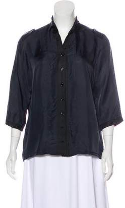 Hannoh Collared Button-Up Blouse