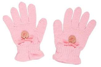 Blumarine Girls' Knit Gloves