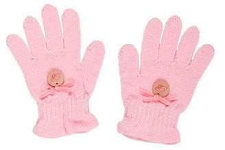 Blumarine Girls' Knit Gloves