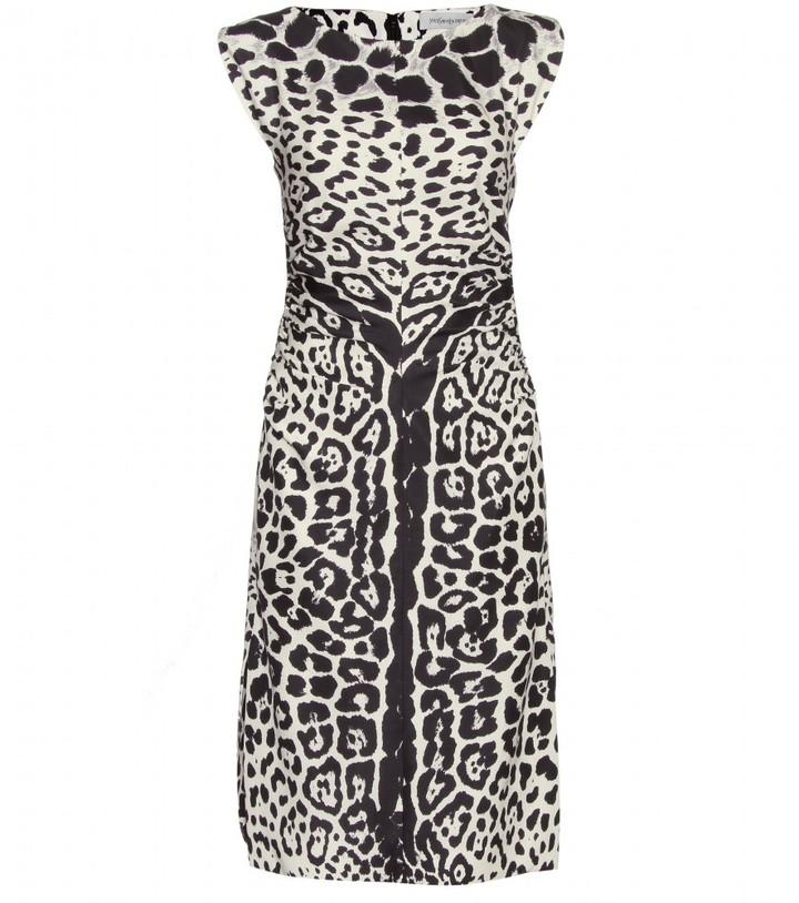Yves Saint Laurent ANIMAL PRINT DRESS