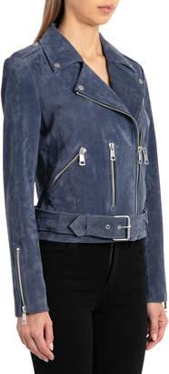 Bagatelle Belted Suede Biker Jacket