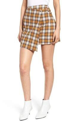Ten Sixty Sherman Plaid Wrap Panel Skirt
