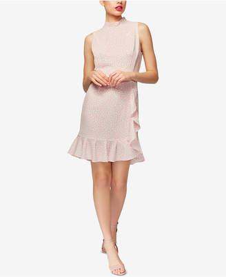 Betsey Johnson Ruffled Mock-Neck Dress