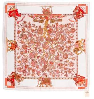 Hermes Fantaisies Indiennes Silk Pocket Square
