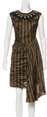 Nicole Miller Embellished Sleeveless Dress