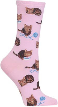 Hot Sox Women's Cat & Yarn Socks