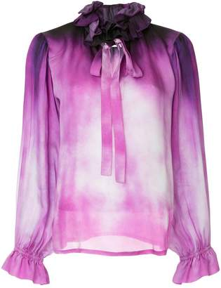 Moschino gradient print blouse
