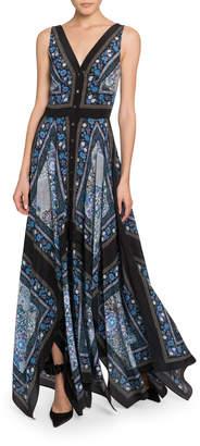 Altuzarra Floral Print Button-Front Dress