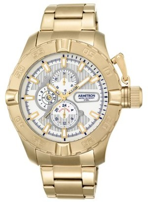 Armitron Men's Dress Bracelet Round Watch, Gold