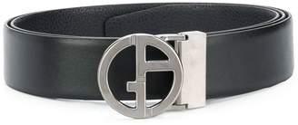Giorgio Armani logo leather belt