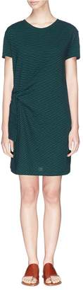 Vince Knot sash stripe T-shirt dress