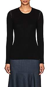 MM6 MAISON MARGIELA Women's Open-Back Rib-Knit Wool-Blend Top-Black