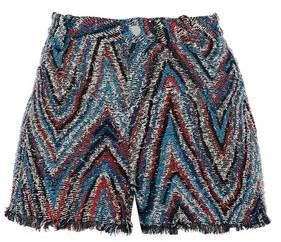 IRO Frayed Cotton-Blend Tweed Shorts