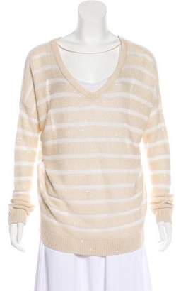 Brunello Cucinelli Embellished Knit Sweatshirt