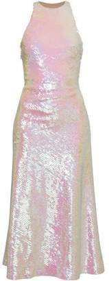 Alexander Wang Open-back Sequined Tulle Midi Dress