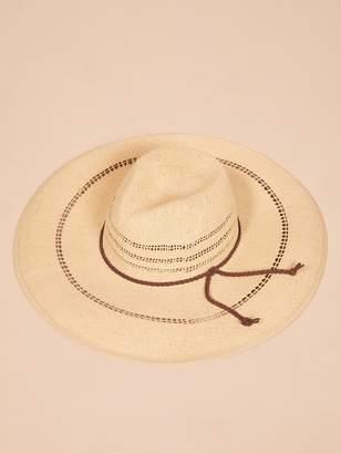 Dorfman Pacific Dorfman Straw Hat With Black Inset
