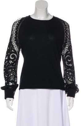 Naeem Khan Cashmere Embroidered Sweater