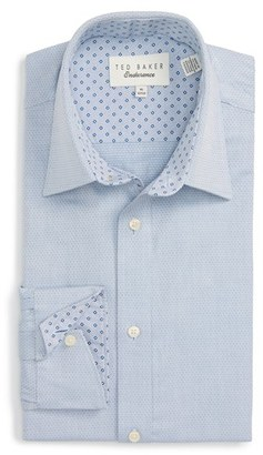 Men's Ted Baker London 'Morrell' Trim Fit Texture Dress Shirt $110 thestylecure.com