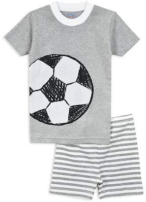 Sara's Prints Boys' Soccer Pajama Shirt & Shorts Set - Little Kid
