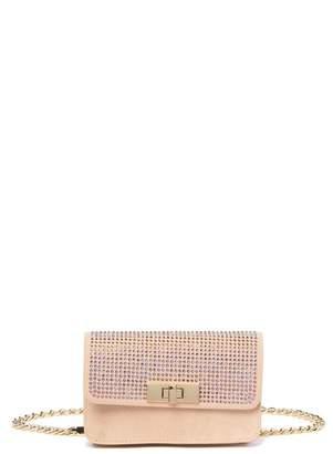 Steve Madden Rhinestone Embellished Belt Bag