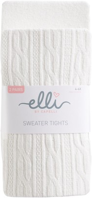 Elli By Capelli Girls 4-14 Elli by Capelli 2-pk. Cable Knit Sweater Tights