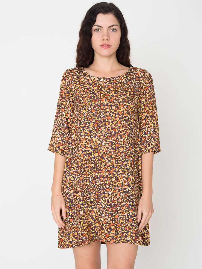 American Apparel California Select Original Painted Ditsy Floral Tent Dress