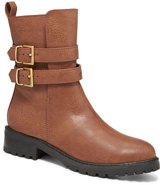 Victoria's Secret Collection Double-buckle Biker Boot