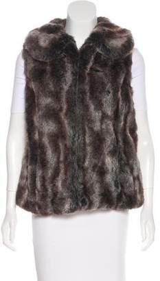 Rachel Zoe Collared Faux Fur Vest
