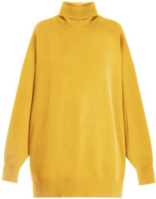 Raey Split-side roll-neck cashmere sweater