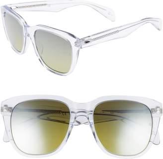 Rag & Bone 54mm Mirrored Sunglasses