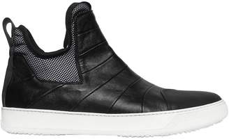 Bruno Bordese Rubberized & Nappa Leather Sneakers