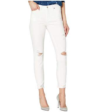 Silver Jeans Co. Most Wanted Mid-Rise Skinny Jeans in White L63022SAC029