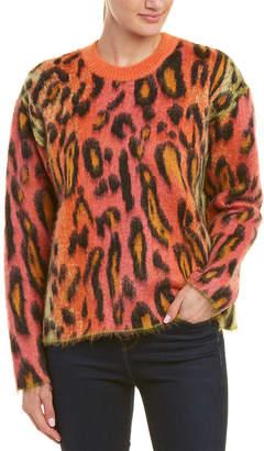 Stella McCartney Leopard-Print Mohair & Wool-Blend Sweater