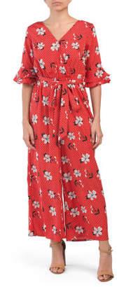 ac69cb27c1d Juniors Floral Tie Waist Jumpsuit