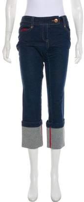 Diane von Furstenberg Mid-Rise Cropped Jeans
