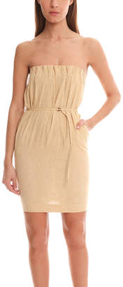 Maison Margiela Linen Ocher Tube Dress