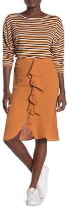 Lumiere Ruffled Knee-Length Skirt