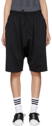 Y-3 Black Logo 3-Stripes Shorts